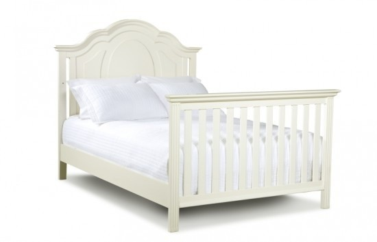 Enchantment Full Size Conversion Kit Bed Rails in Off White