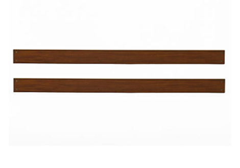 Essentials Full Size Conversion Kit Bed Rails In Chestnut By Baby Cache