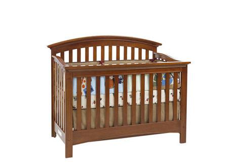 Baby Cache Essentials Curved Lifetime Crib Chestnut