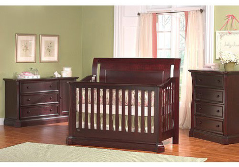 royale size conversion kit bed rails in cherry by baby cache