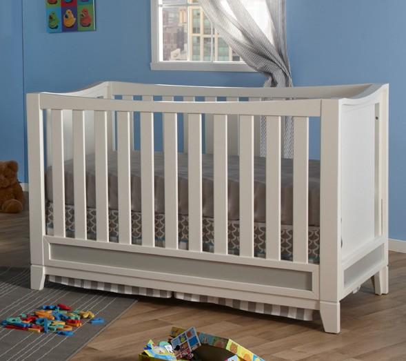 Pali treviso crib white gray