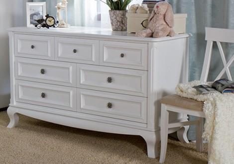 ... Romina Antonio 7 Drawer Dresser White ...