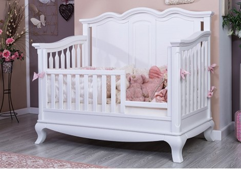 Cleopatra Solid Panel Convertible Crib By Romina Furniture