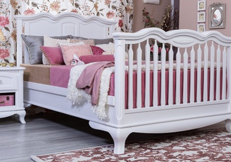 Attractive ... Romina Cleopatra Solid Panel Full Bed White ...