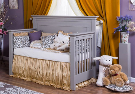 ... Romina Karisma Solid Panel Crib Converted To Day Bed Vintage Gray ...