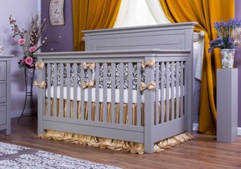 Romina Karisma Solid Panel Crib Vintage Gray 2