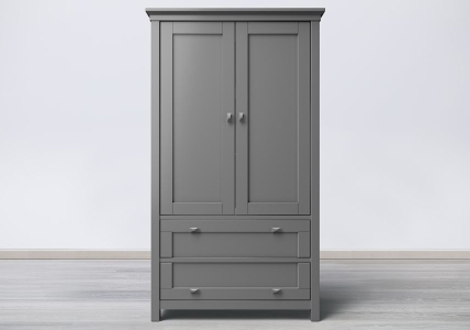 Karisma 2 drawer grand armoire by romina furniture for Armoire grande hauteur