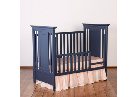 ... Karisma Classic Crib With Toddler Rail In Navy ...