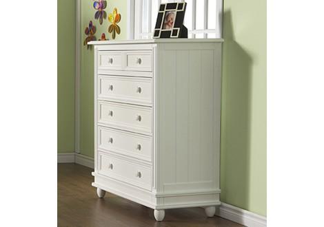 Pali Marina 5 drawer chest white