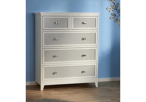 Pali treviso 5 drawer chest white gray 3