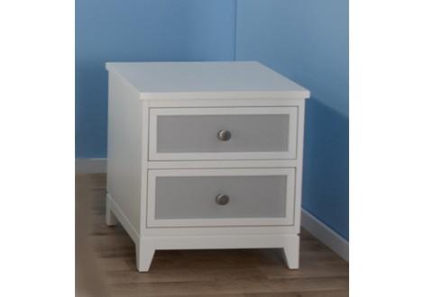 Pali treviso nightstand white gray