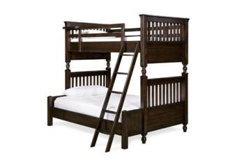 Smart Stuff Paula Deen Guys Twin over Full Bunk Bed Molasses