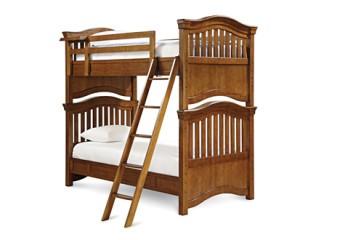 Smartstuff Classics 4.0 Twin Bunk Bed Saddle Brown (2)