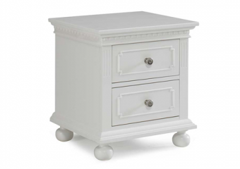 NAPLES NIGHT STAND IN SNOW WHITE