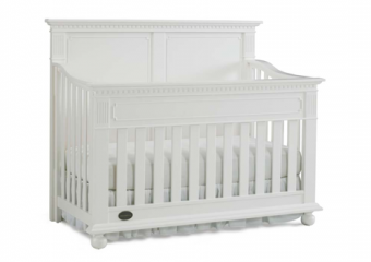 NAPLES snow white solid panel crib