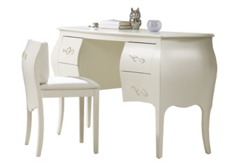 Natart Allegra Desk Vanity with sitting