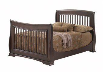 Natart Bella 4-in-1 Convertible Crib as Double Bed in Cocoa