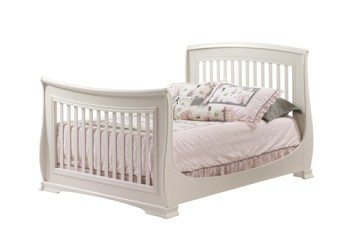 Natart Bella 4-in-1 Convertible Crib as Double Bed in Linen