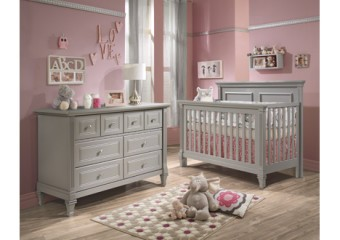 Natart Belmont Collection Baby Room in Stone Grey