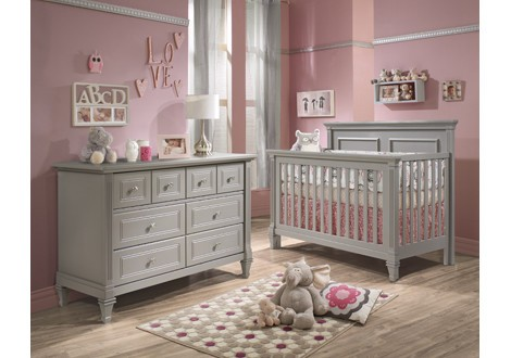 Nice Natart Belmont Collection Baby Room In Stone Grey ...