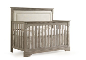 Natart Ithaca 4-in-1 Convertible Crib with Upholstered Panel in Sugar Cane