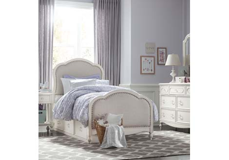 Harmony by Wendy Bellissimo Victoria Upholstered Twin Panel Bed By ...