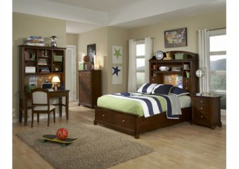 Impressions Full Bookcase Headboard Bed with Storage Footboard ROom View