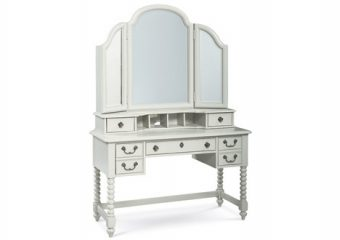 Inspirations Boutique Desk with Vanity Mirror