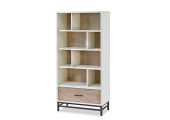 SmartStuff #myRoom Bookcase in Gray and Parchment