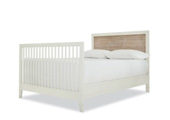 SmartStuff #myRoom Convertible Crib With Bed Rails In Gray And Parchment