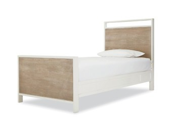 SmartStuff #myRoom Panel Bed Twin in Gray and Parchment