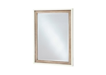 SmartStuff #myRoom Vertical Mirror in Gray and Parchment