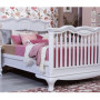 Cleopatra Crib Converted to Full in Vintage Gray