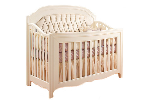 Allegra Convertible Crib W/ Platinum Tufted Panel
