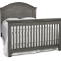 LUCCA Weathered Grey Crib Converted to Full Bed