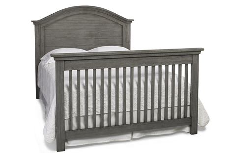 Lucca Full Panel Crib Full Size Conversion Kit in Weathered Grey