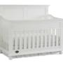 snow white solid panel crib