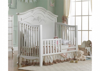 ANGELINA pearl crib with toddler rail