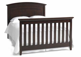 Espresso Crib Converted to Bed