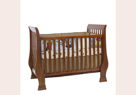 Essentials Bliss Sleigh Toddler Guard Rail In Chestnut By