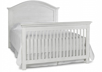 LUCCA Seashell White Crib Converted to Full Bed