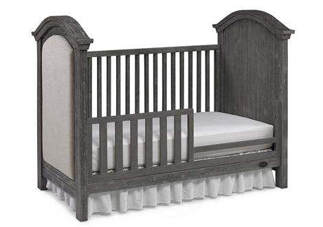 Lucca Traditional Crib Toddler Guard Rail in Weathered Grey