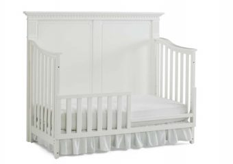 NAPLES SOLID PANEL CONVERTIBLE CRIB IN SNOW WHITE