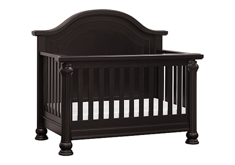 strathmore crib and toddler rail in dark espresso by