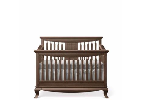 Antonio Convertible Crib with Slatted Headboard