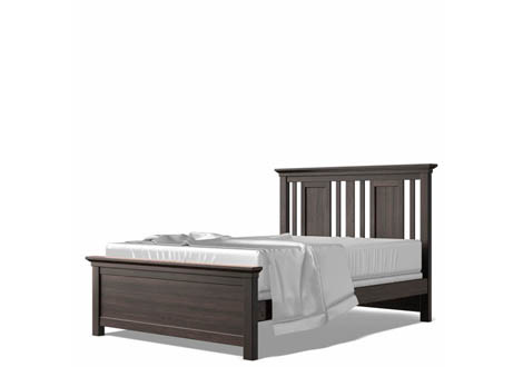 Karisma Full Bed with Slatted Headboard