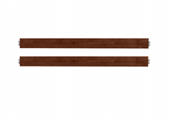 Evolur Full Size Conversion Kit Bed Rails in Java-Coffee Bean