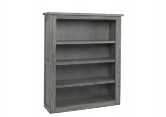 LUCCA BOOKCASE HUTCH IN WEATHERED GREY