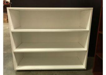 Maxtrix 3 Shelf Bookcase in White