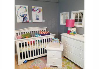 Pali Volterra Crib, Dresser and Nightstand - 3 Piece Set